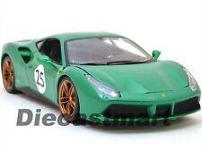 """2015 Ferrari 488 GTB """"#25 the Green Jewel"""" verde 1 18 Bburago 76101"""