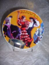 4 ceramic mini plates/coasters Spain,includes 'Gaudi' window image