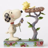 Jim Shore Peanuts Nest Warming Gift Snoopy and Woodstock Figurine 4054079 New