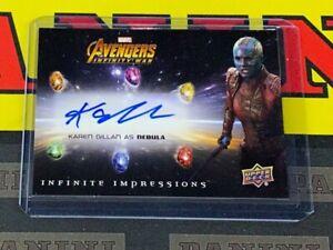 2018 Upper Deck Avengers Infinity War Karen Gillan as Nebula Autograph!