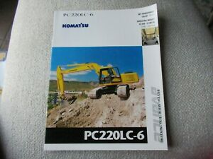 1995 Komatsu PC220LC-6 hydraulic excavator brochure