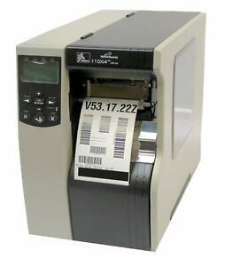 Zebra 110Xi4 113-801-00000 Thermal Barcode Label Printer USB Network 300DPI