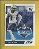 John Ross RC 2017 Score NFL Draft Rookie Card # 11 Cincinnati Bengals Football