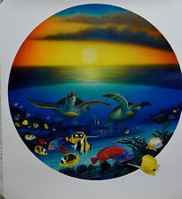 WYLAND SEA TURTLE REEF LITHOGRAPH SIGNED #732/950 W/COA STUNNING
