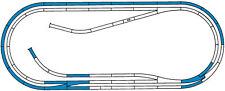 42012 Roco HO Set tracks D with roadbed and traverse in wood