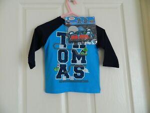 New Kids T-Shirt Long Sleeve Cotton THOMAS & FRIENDS Blue Size 1 Create & Play