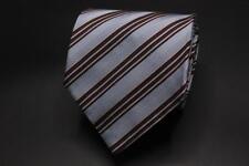 ARMANI COLLEZIONI Silk Tie. Blue w Brown, White & Pink Stripes.