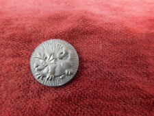 Vintage Silver Tone Coin with Dragon on one side and Ship on the other