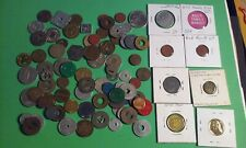 Junk Drawer Lot of 85+ Various Tokens Tax Sales Transit Trade Ration other Types