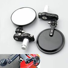 """2Pcs Motorcycle Foldable Round 7/8"""" Handlebar End Rearview Side Mirror Universal"""