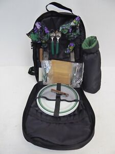 Picnic Backpack by Picnic Time Included Plates Wine Glasses Cutlery Napkins Z2