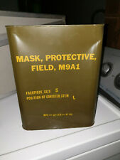 Armee Mask Protective Field Schutzmaske Filter Tasche Gasmaske Container M 9A1