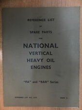 national gas vertical oil engines spare parts list for the FA & BAR vintage