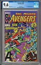 Avengers #246 CGC 9.6 White The Eternals Sersi Ronald and Nancy Reagan app