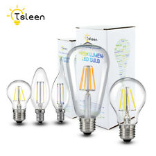 E27/E14 4/8/12/16W Flame COB Lamps Candle Flame Edison Filament LED Bulb Lights