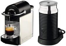 Magimix Nespresso Pixie Clips Coral Neon & White Coffee Machine & Aeroccino 1137