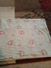 """Laura Ashley rosemoor  green pink roses 17"""" x 84"""" valance curtain excellent"""