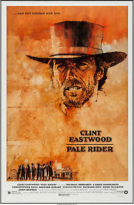PALE RIDER original 27x41 ROLLED 1985 one sheet movie poster CLINT EASTWOOD
