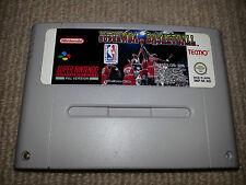 Tecmo Super NBA Basketball Super Nintendo SNES Cartridge PAL Cleaned & Tested