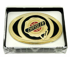 Chrysler Belt Buckle Gold American Car Spec Cast Officially Licensed Collectible