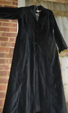 HipPY Boho Goth BLACK LONG Natural NOMADS VELVET COAT Wicca Jacket Quirky Nepal