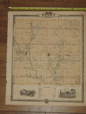1875 Atlas - Harrison & Story County, Reversable Iowa Map ORIGINAL -Logan Ames