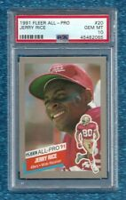 1991 FLEER ALL-PRO #20 JERRY RICE PSA 10 GEM MINT POP 4 HOF SAN FRANCISCO 49ERS