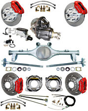 NEW SUSPENSION & WILWOOD BRAKE SET,CURRIE REAR END,POSI-TRAC GEAR,78-88 GM,RED