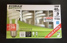 4 Pack EcoBulb  Soft White Twist Light Bulb 40 Watt Equivalent 500 Lumens