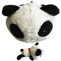 """New 10.5"""" Cute Black and White Panda With Red Scarf Flush Stuffed Toy For Kids"""