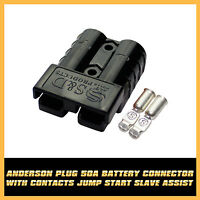 Battery Charge 50AMP Black Anderson Plug Style Connector DC Top Quality Plastic