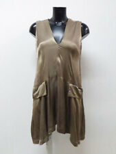 ANN DEMEULEMEESTER Damen Kleid GR 38  DE  Bronze Ton   Luxus Pur       Q 3819 R
