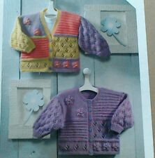 Knitting pattern Girls Cardigan Baby/Toddler/Child 6 sizes - DK yarn
