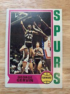 "1974 Topps #196 George Gervin ""The Iceman"" RC ROOKIE CARD - HOF - SPURS"