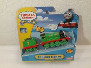 Thomas & Friends Take-N-Play Take Along Portable Railway Talking Henry NEW
