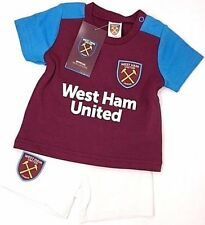 West Ham United FC Official Football Gift Home Kit Baby T-shirt & Shorts 9-12 Months