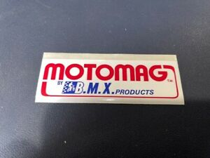 # NOS MONGOOSE VINTAGE OLD SCHOOL MOTOMAG DECAL STICKER  ORIGINAL HOT BMX MX