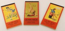 Gil Elvgren Vintage Pin-Up Illustrated Plain Pages Notebooks Notepad Set of 3