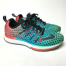 d73b084b863f Nike Air Zoom Elite 8 Men s Size 7.5 Athletic Running Shoes Blue Green Red
