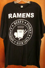 RAMEN NOODLES rock parody XXL tee Hey Ho Let's Go 2XL punk T shirt