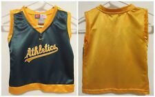 NIKE Oakland Athletics A's Baseball Jersey Tank 2T Toddler Boy Girl MLB Sewn Log