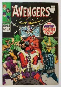 Avengers #54 VG 4.0 New Masters of Evil! Roy Thomas & John Buscema!
