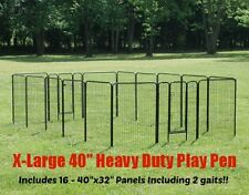 EXTRA LARGE HEAVY DUTY PET EXERCISE PEN 40 INCHES HIGH PLAYPEN DOG PEN, PET PEN