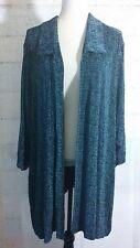 Women's Plus Ve Ve Collection By Vikki Vi Open Front Cardigan Sz 5X Acetate blue