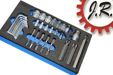 """Draper 35 Piece 1/4"""", 3/8, 1/2"""" Sq. Dr. TX-STAR Socket, Bit & Key Set - 49380"""