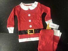 Carter's Baby Girl Christmas Red Mrs Claus Suit Pajamas Size 12 Months NEW