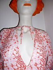 & OTHER STORIES 36 (UK 10)coral pink white summer wedding tea dress SOLD OUT