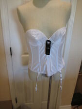 Va Bien Low Back Bustier Bra 36B White 6363 Garter & shoulder Straps NWT Rear