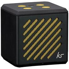 KitSound Tilt Mini Bluetooth Speaker With Built-in Microphone Black