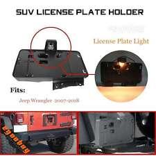 For JEEP Wrangler 07-18 Rear License Plate Bracket Holder W/ License Plate Lamp
